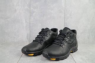 Мужские ботинки кожаные зимние черные-матовые Yuves 501, фото 3