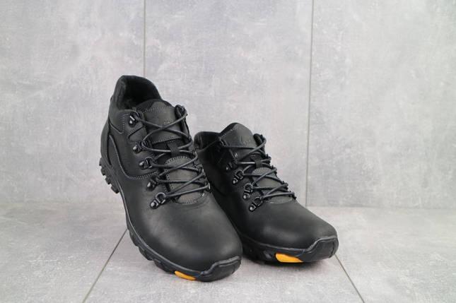 Мужские ботинки кожаные зимние черные-матовые Yuves 501, фото 2