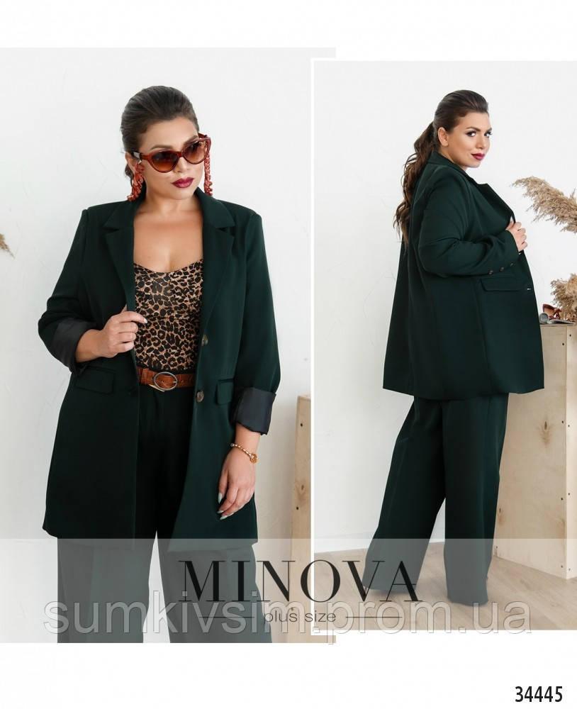 Пиджак №714Б-темно-зеленый