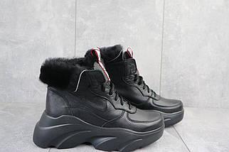 Женские ботинки кожаные зимние черные Best Vak БЖ 52-01, фото 2