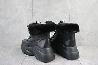 Женские ботинки кожаные зимние черные Best Vak БЖ 52-01, фото 3