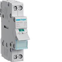 Выключатель нагрузки Hager 2-пол., 25А/400В, 1м SBN225 (мини-рубильник)