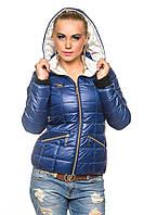 Демисезонная куртка женская с капюшоном. Анжелика-синий.