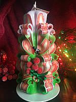 Рождественская свеча с калиной