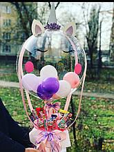 Шар Единорог Коробочка со сладостями и Шаром  Баблс