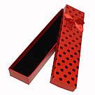"""Подарочная коробочка под браслет или цепочку """"Горошек с Бантом Красный 21 Х 4 Х 2,3 СМ"""", фото 2"""