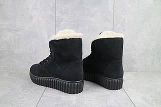 Женские ботинки кожаные зимние черные-нубук CrosSav 151, фото 3