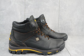 Мужские ботинки кожаные зимние черные Barzoni 330, фото 3