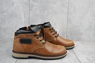 Подростковые ботинки кожаные зимние рыжие Yuves 782, фото 2