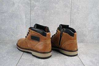 Подростковые ботинки кожаные зимние рыжие Yuves 782, фото 3