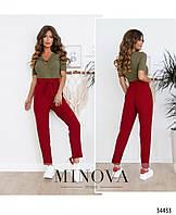 Женские брюки красные, фото 1