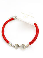 Оригинальный блещущий жгут - красная нить в легком дизайне со сверкающей бабочкой