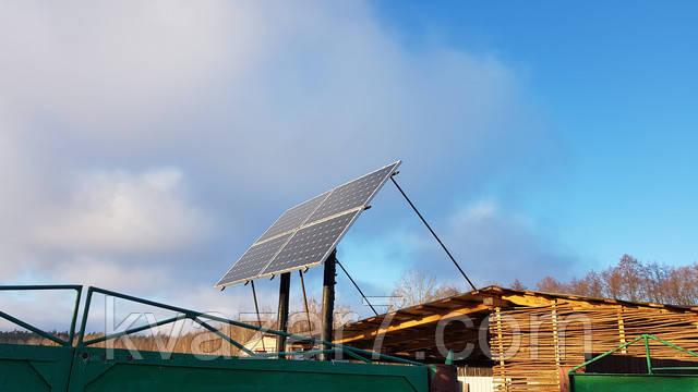 солнечная электростанция в лесу