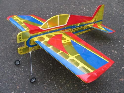 Авиамодель на радиоуправлении самолета YAK 54  Profile  ARF,  780 мм