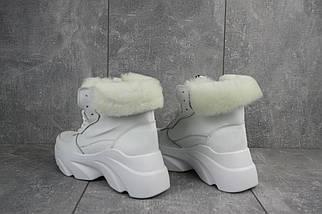 Женские ботинки кожаные зимние белые Best Vak БЖ 52-06, фото 3