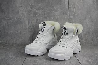 Женские ботинки кожаные зимние белые Best Vak БЖ 52-06, фото 2