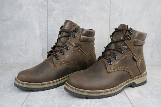 Мужские ботинки кожаные зимние коричневые Yuves Obr 6, фото 2