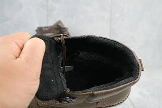 Мужские ботинки кожаные зимние коричневые Yuves Obr 6, фото 3