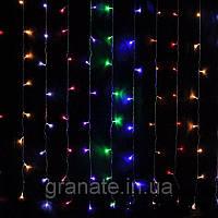 Гирлянда Штора 3х2 м,500 LED разноцветная