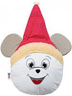 Декоративная подушка Мышка-Санта (круглая)