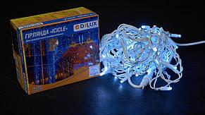 Гірлянда зовнішня DELUX є icicle 75 LED бахрома 2x0.7m 18 flash білий/білий IP44