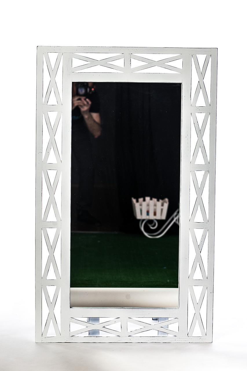 "Зеркало настенное ДРЕВОДЕЛЯ ""Версаль"" 110х67х1,5см Белая патина (070201)"