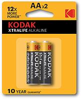 Батарейка Kodak XtraLife LR06 блистер 2шт (30045)
