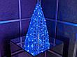Елка металлическая с гирляндой, железная, лофт, loft, питание от сети 220ВТ, 100 LED, 45 см., настольная., фото 2