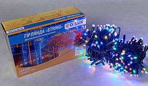 Гірлянда зовнішня DELUX STRING 200 LED нитка 20m (2x10m) 40 flash мульти/чорний IP44 EN