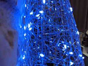 Елка металлическая с гирляндой, железная, лофт, loft, питание от сети 220ВТ, 100 LED, 45 см., настенная, фото 3