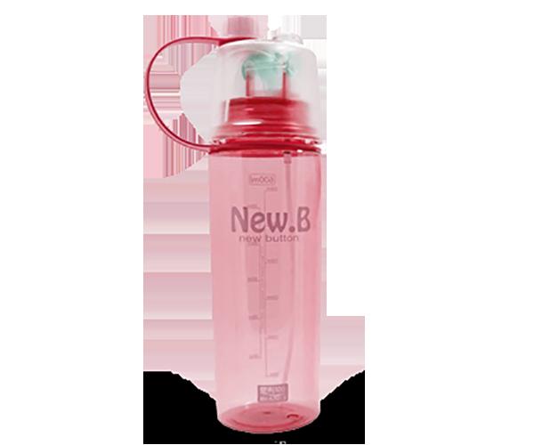 Спортивная бутылка для воды с распылителем New B. 600 мл Розовый