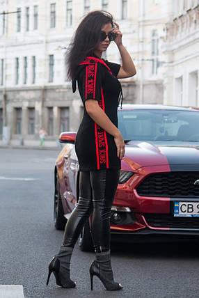 Туніка з коротким рукавом SportShick (чорний, алий), фото 2