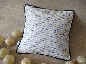 Наволочка новорічна для декоративної подушки 35*35