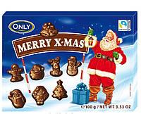 Новогодние шоколадные фигурки Only Merry X-Mas 100g Австрия