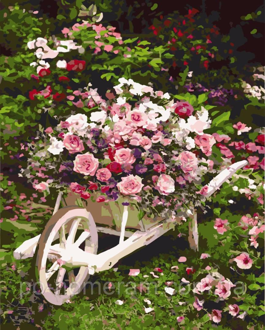 Картина по номерам Розовый куст (BRM8847) 40 х 50 см купить Киев на Po-Nomeram