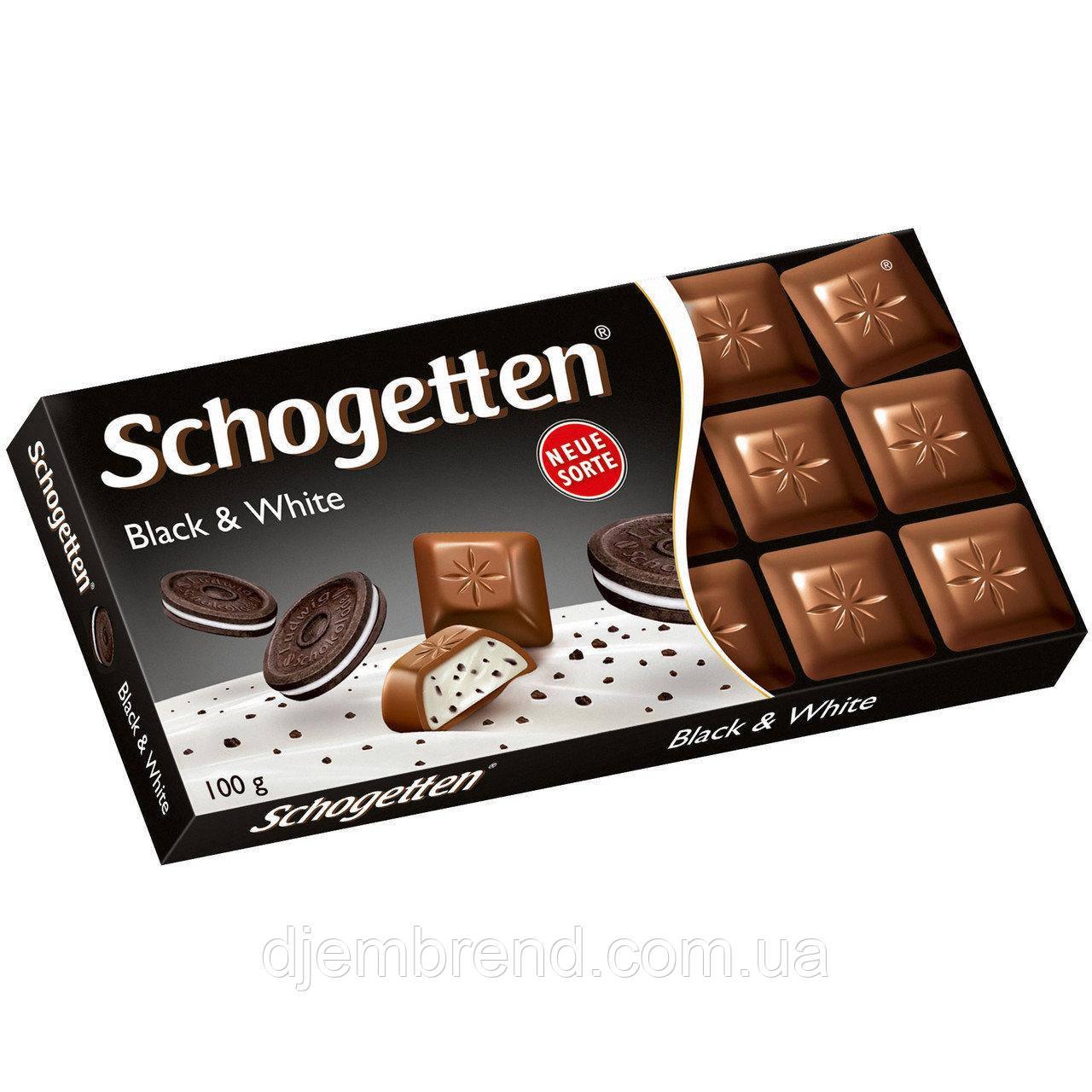 Шоколад черное и белое с печеньем «Орео» Schogetten Black and White 100 г