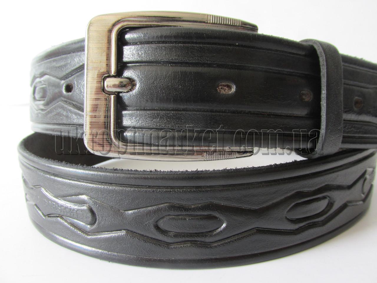 """Ремень мужской брючный шпенек (кожа, 35 мм.) №М17734  """"Remen"""" LM-638"""