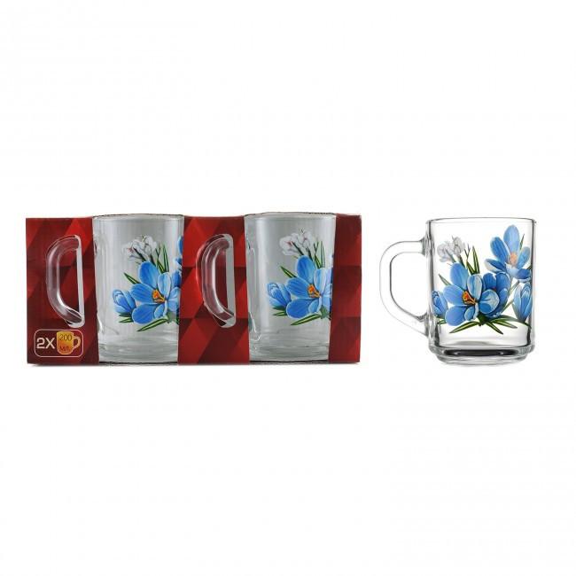 Набор чайных кружек ОСЗ 2 шт Цветы (8235)