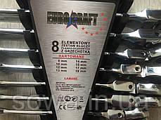 ✔️ Набор рожково-накидных ключей с  трещоткой на кардане  Euro craft - 8 шт, фото 3