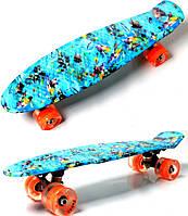 "Penny Board ""Graffiti Nemo"" Светящиеся колеса., фото 1"