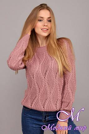 Теплый шерстяной свитер (ун. 44-48) арт. К-13-141, фото 2