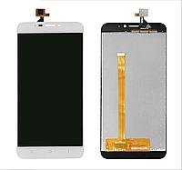 Дисплей для Oukitel U20 Plus с сенсорным стеклом (Белый) Оригинал Китай