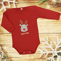 Красный боди для новорожденных отличное качество
