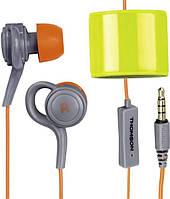Наушники спортивные вакуумные Thomson EAR3205 влагоустойчивые защита IPX 3,  с микрофоном, 1,5м