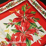 46016 Алое рождество. Ткань с новогодним рисунком. Декоративные ткани., фото 2