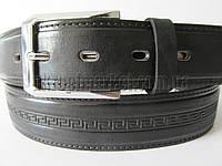 """Ремень мужской брючный шпенек (гл.кожа, 35 мм.) №М17746  """"Remen"""" LM-638"""