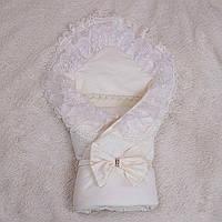 """Зимний конверт-одеяло """"Волшебство"""" на выписку или крестины"""
