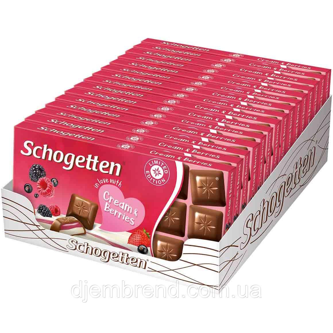 Шоколад с ягодами и кремом Schogetten Cream and Berries 100г