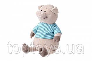 М'яка іграшка Same Toy Свинка в тільняшці блакитній 35 см (THT715)