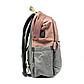 Рюкзак для Мамы на Коляску для Детских Принадлежностей Оригинал Machine Bird (078) Розовый с Серым, фото 3